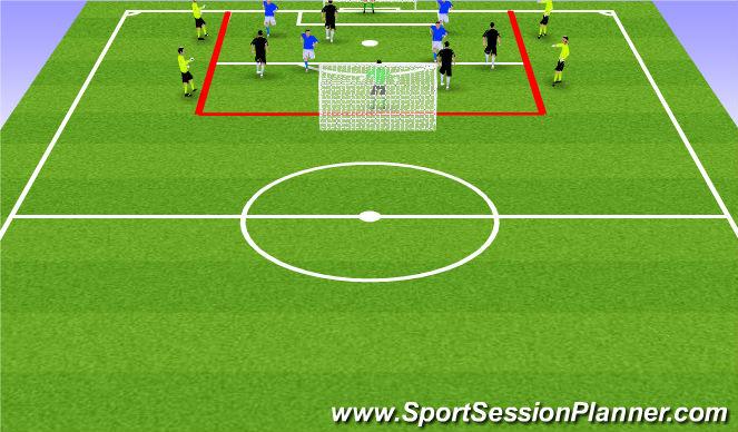 Football/Soccer Session Plan Drill (Colour): 3) 4v4 + 4 Neutrals Olders