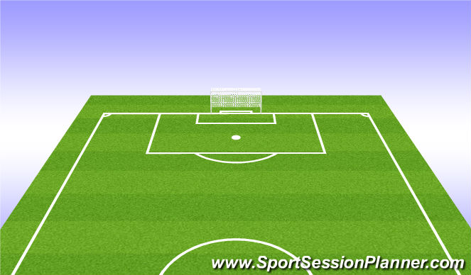 Football/Soccer Session Plan Drill (Colour): 4) Half Field offense