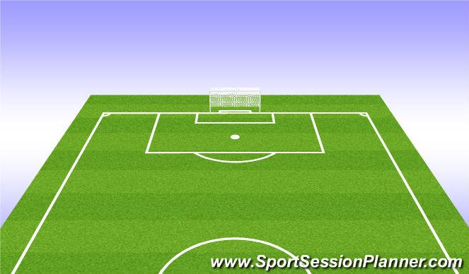 Football/Soccer Session Plan Drill (Colour): 4) Half Field offense