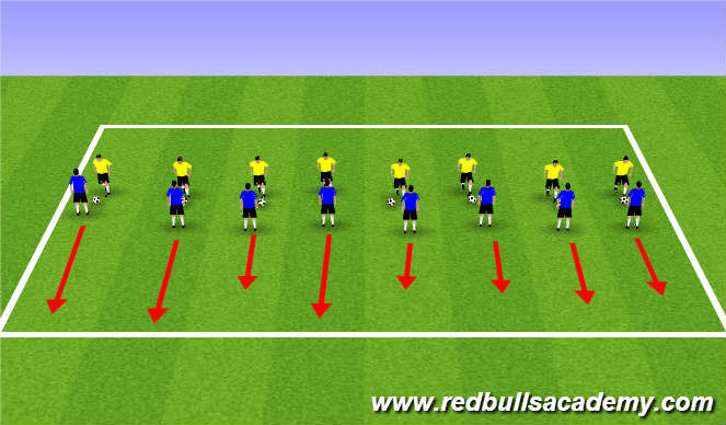 Football/Soccer Session Plan Drill (Colour): Warm Up (1400)