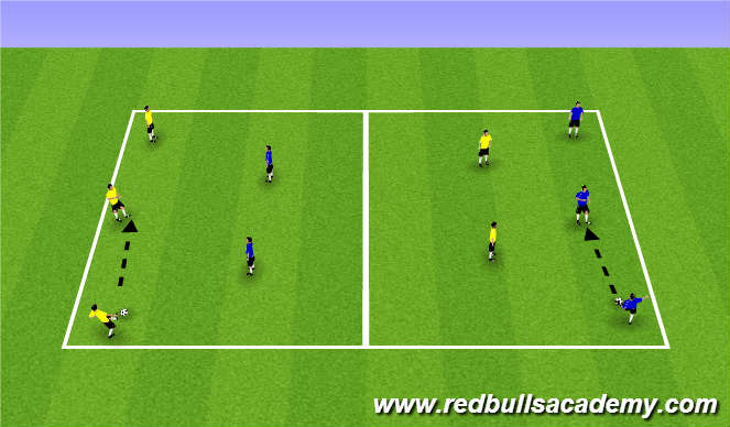 Football/Soccer Session Plan Drill (Colour): Warm Up (1362)