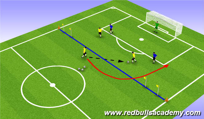 Football/Soccer Session Plan Drill (Colour): Main Theme (1636)