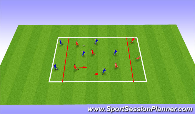 Football/Soccer Session Plan Drill (Colour): SSG - Possesion