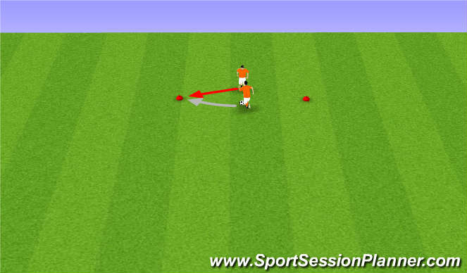Football/Soccer Session Plan Drill (Colour): Face to Face