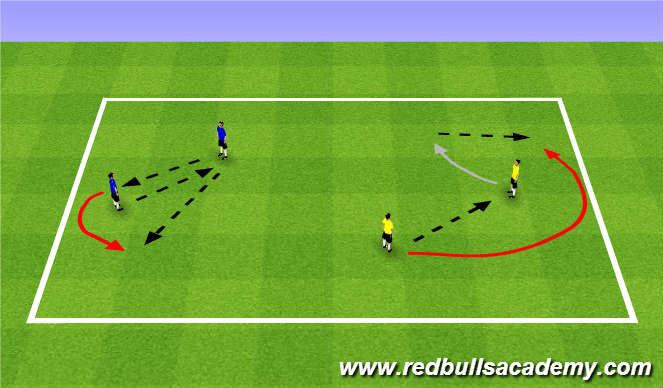 Football/Soccer Session Plan Drill (Colour): Warm Up (1623