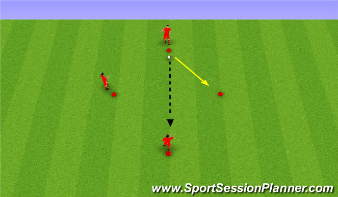 Football/Soccer Session Plan Drill (Colour): Passing&Moving