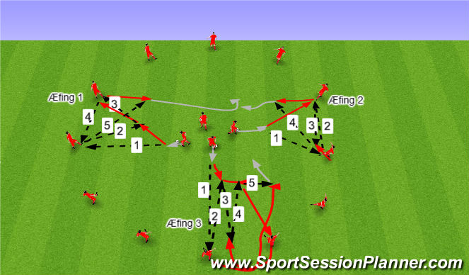 Football/Soccer Session Plan Drill (Colour): Upphitun / Tækniþjálfu: