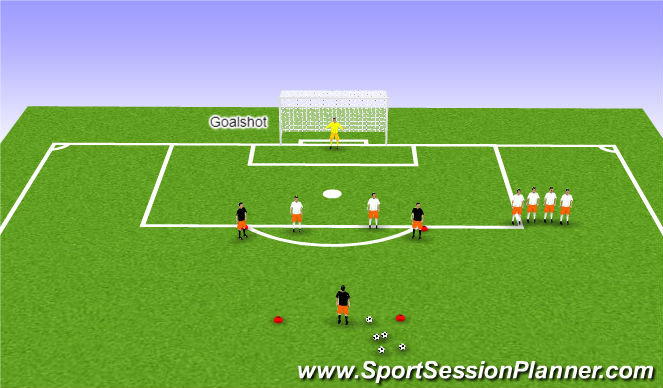 Football/Soccer Session Plan Drill (Colour): High Pressure Defense