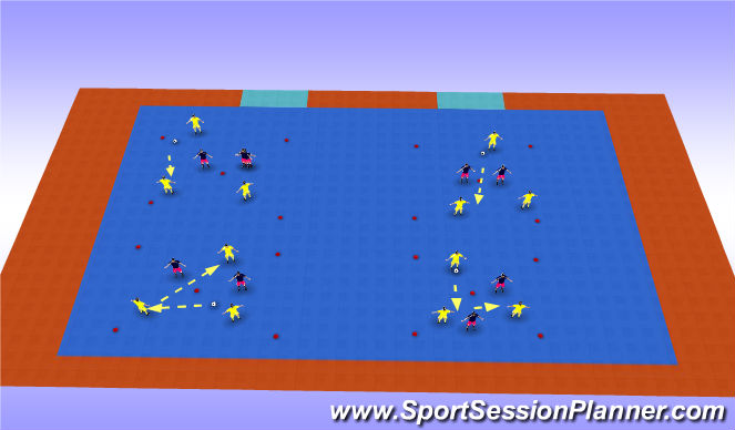 Futsal Session Plan Drill (Colour): Possession drill