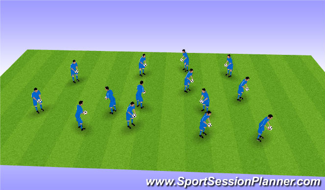 Football/Soccer Session Plan Drill (Colour): Intro/Arrival Activity