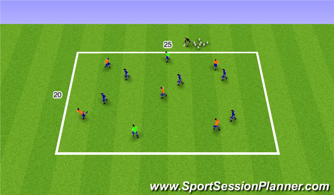 Football/Soccer Session Plan Drill (Colour): Posession Activity