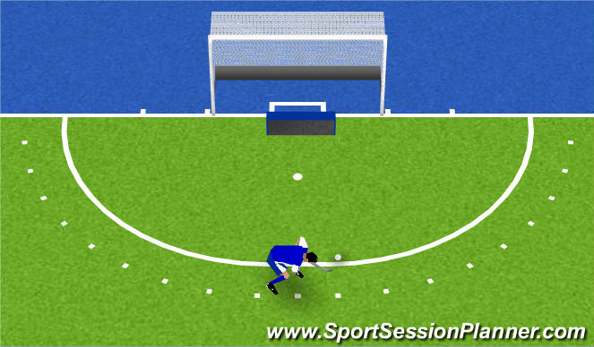 Hockey Session Plan Drill (Colour): Central part