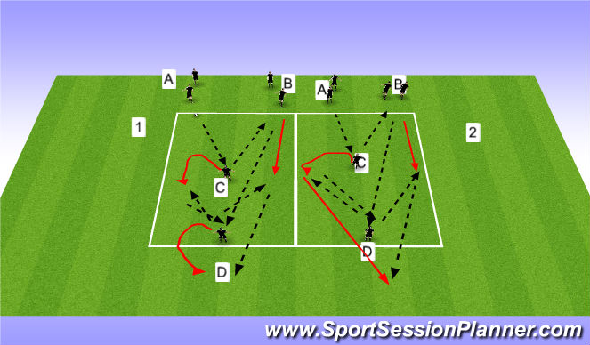 Football/Soccer Session Plan Drill (Colour): PTWYF WarmUp
