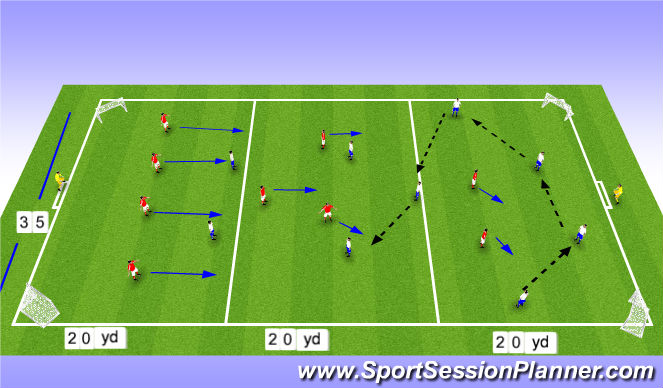 Football/Soccer Session Plan Drill (Colour): pressing game