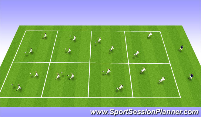 Football/Soccer Session Plan Drill (Colour): Freestyle Juggling