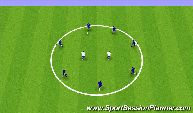 Football/Soccer Session Plan Drill (Colour): Arrival Rondo