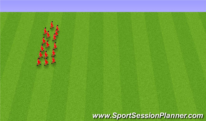 Football/Soccer Session Plan Drill (Colour): Endurheimt: