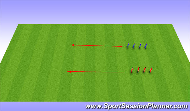 Football/Soccer Session Plan Drill (Colour): Cooldown