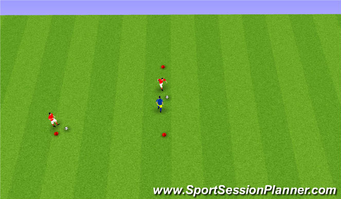 Football/Soccer Session Plan Drill (Colour): Limited Pressure