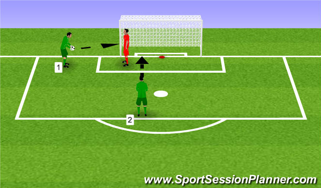 Football/Soccer Session Plan Drill (Colour): Footwork handling