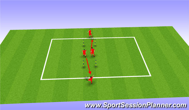 Football/Soccer Session Plan Drill (Colour): High Intensity Warmup