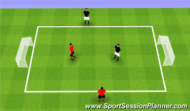 Football/Soccer Session Plan Drill (Colour): Teams of 2