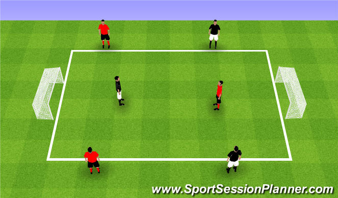 Football/Soccer Session Plan Drill (Colour): Teams of 3