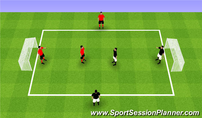 Football/Soccer Session Plan Drill (Colour): Teams of 3 - #2