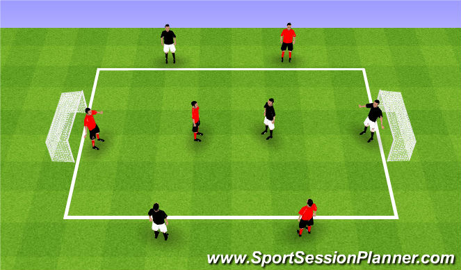 Football/Soccer Session Plan Drill (Colour): Teams of 4