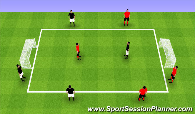 Football/Soccer Session Plan Drill (Colour): Teams of 4 - #2