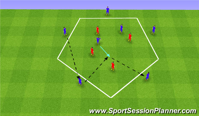 Football/Soccer Session Plan Drill (Colour): Passing - Skill