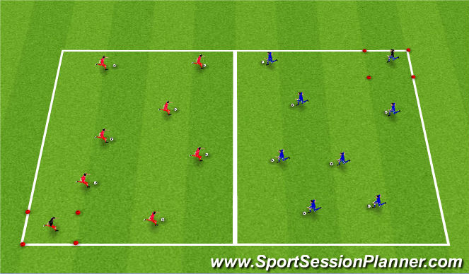 Football/Soccer Session Plan Drill (Colour): Doctor, Doctor