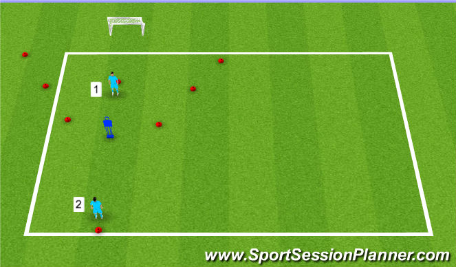 Football/Soccer Session Plan Drill (Colour): Moving into Space