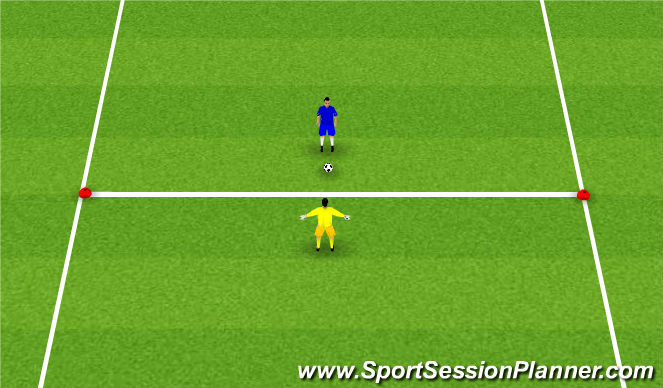 Football/Soccer Session Plan Drill (Colour): 1v1 - Lateral movements