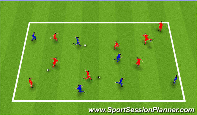 Football/Soccer Session Plan Drill (Colour): Skotboltaleikur.