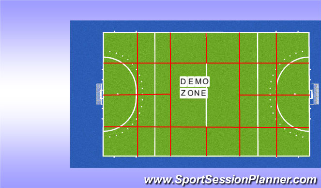 Hockey Session Plan Drill (Colour): Veldindeling