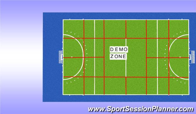 Hockey Session Plan Drill (Colour): Veldindeling