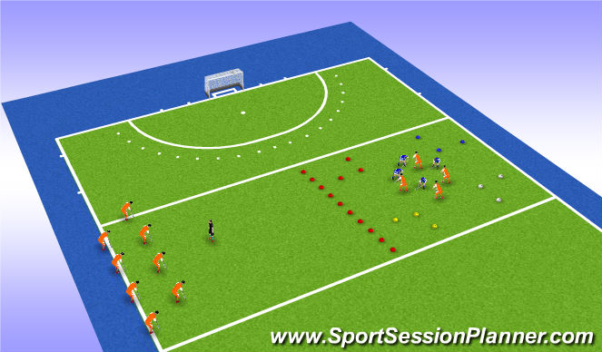 Hockey Session Plan Drill (Colour): Warming up (deel 1)