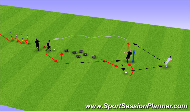 Football/Soccer Session Plan Drill (Colour): Passing 1