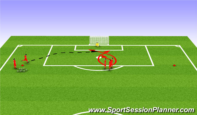 Football/Soccer Session Plan Drill (Colour): Touch/Service