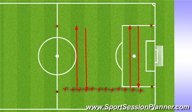Football/Soccer Session Plan Drill (Colour): Upphitun1: Án bolta.