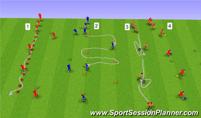 Football/Soccer Session Plan Drill (Colour): Upphitun2: Knattrak.
