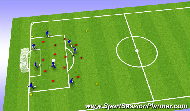 Football/Soccer Session Plan Drill (Colour): Warm up/ dribbling/ moves