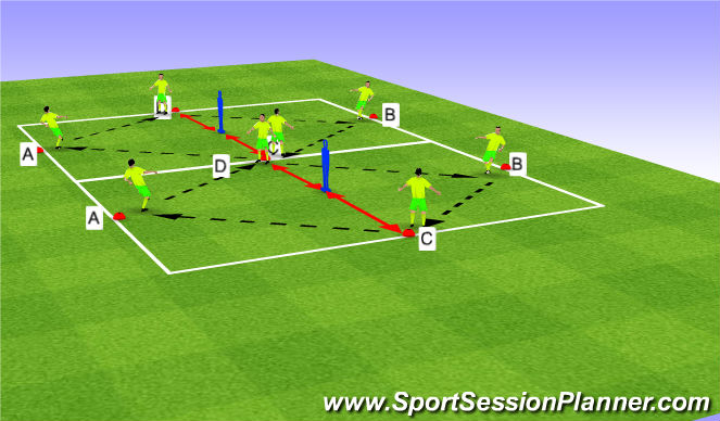 Football/Soccer Session Plan Drill (Colour): Diamond Drill