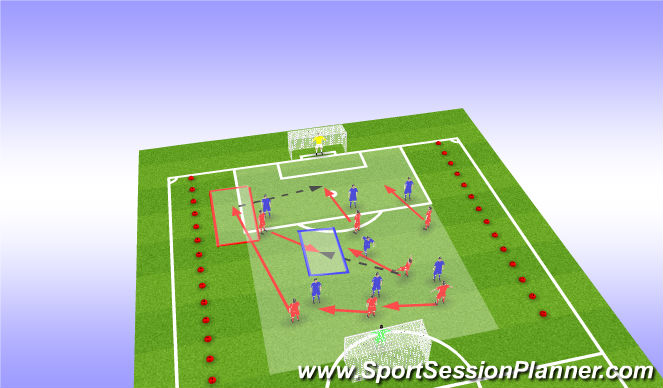 Football/Soccer Session Plan Drill (Colour): Progrssion
