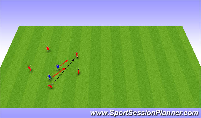Football/Soccer Session Plan Drill (Colour): Warm Up - Keep Away