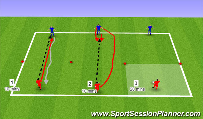 Football/Soccer Session Plan Drill (Colour): 1v1 Warm Up/Competition