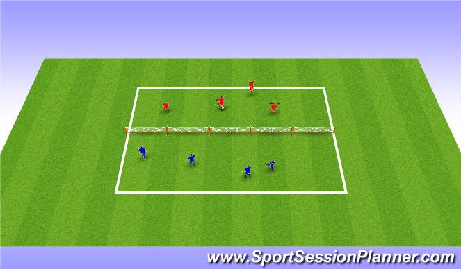 Football/Soccer Session Plan Drill (Colour): Head Tennis