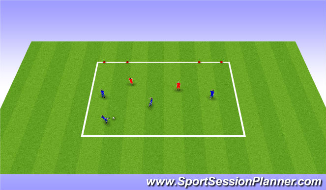 Football/Soccer Session Plan Drill (Colour): Attacking Play/Moving the ball quickly
