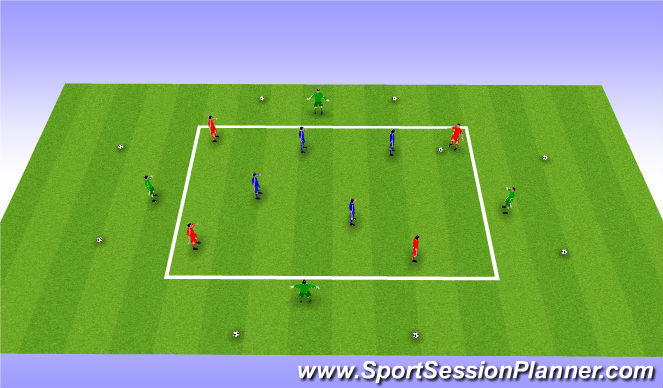 Football/Soccer Session Plan Drill (Colour): Expanded Small sided Posession